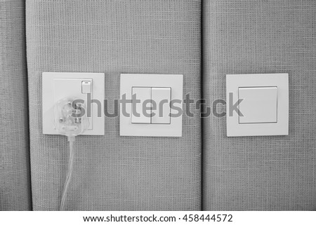 Electrical outlets and light switches in rooms Malaysia.