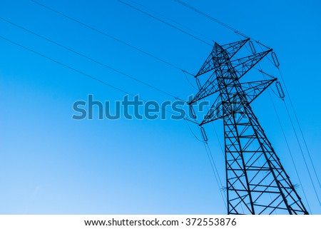 Electrical power lines. Trento, Italy.