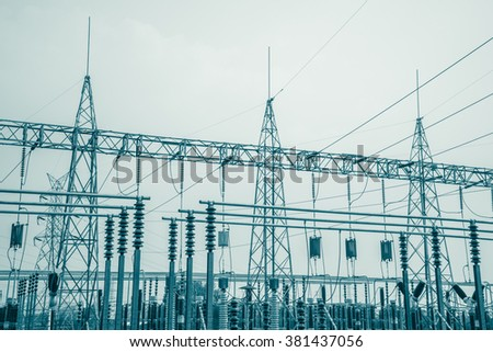 Electrical power station - Color tone effect