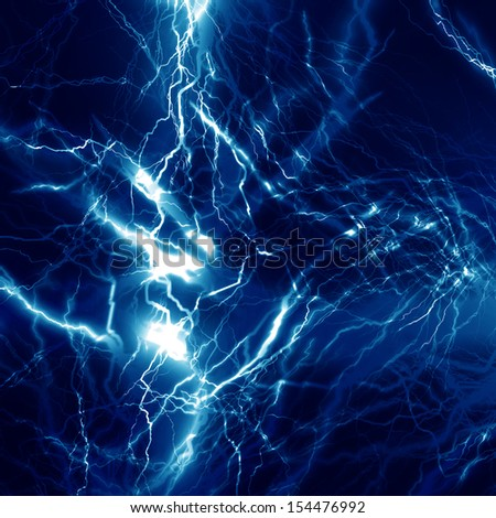 electrical sparks on a dark blue background