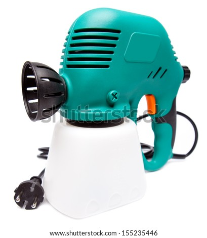 electrical spray gun - stock photo