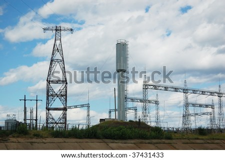 electrical station - stock photo
