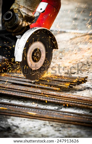 Electrical steel grinding wheel  - stock photo