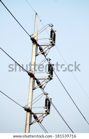 Electrical steel pole