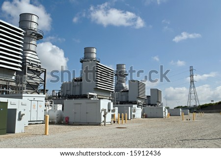 Electrical Substations - stock photo