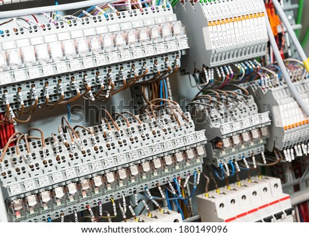 Electrical supplies - stock photo
