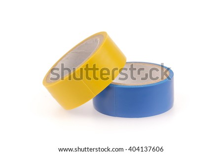 Electrical tape isolated on white background