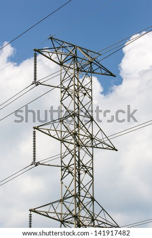Electrical Tower against the sky - stock photo