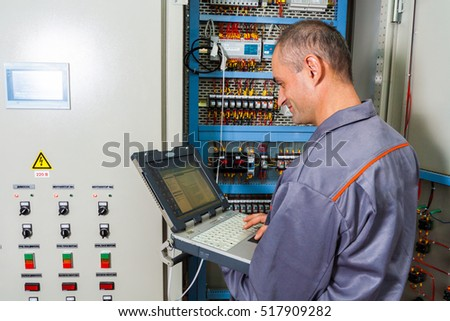fuseboard stock photos royalty images vectors shutterstock electrician testing industrial machine electrician builder engineer screwing equipment in fuse box male electrician