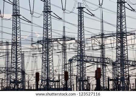 Electricity distribution - stock photo
