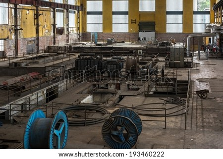 Electricity distribution hall at the metal industry