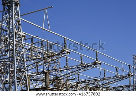 Electricity distribution structures. Abstract technology