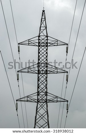 electricity, energy, tower, distribution, electric, power, high, voltage, line, sky, electrical, transmission, technology, industry, engineering, steel, structure, cable, supply, wire, generator