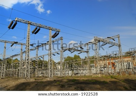 Electricity plant - stock photo