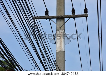 electricity pole and obstruction animal