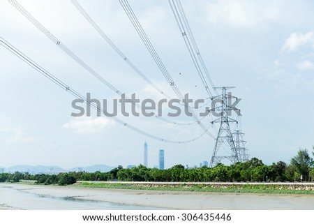 Electricity power tower - stock photo