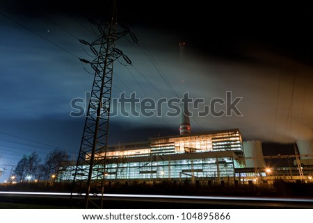 Electricity production and distribution - stock photo
