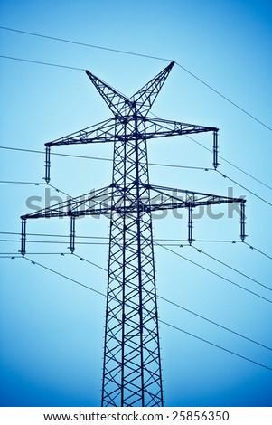 Electricity pylons - stock photo