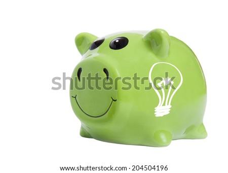 Electricity saving concept - stock photo