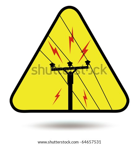 Electricity sign, symbol - stock photo