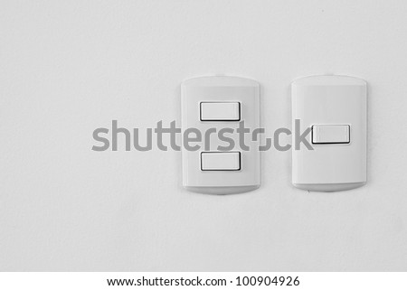 Electricity switch - stock photo