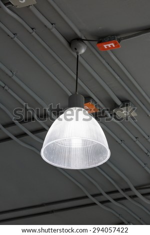 electricity system of modern building  - stock photo