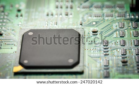 Electronic Board. Small depth of field.  - stock photo