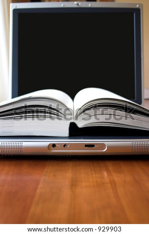 Electronic book - screen can easily be adapted to your needs - stock photo