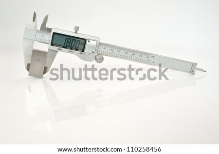 electronic calipers - stock photo