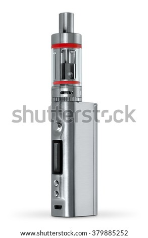 Electronic Cigarette is located on a white background - stock photo