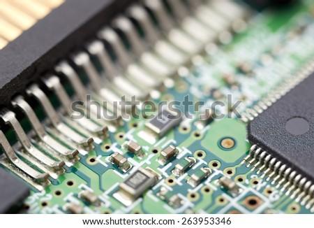 electronic circuit - stock photo