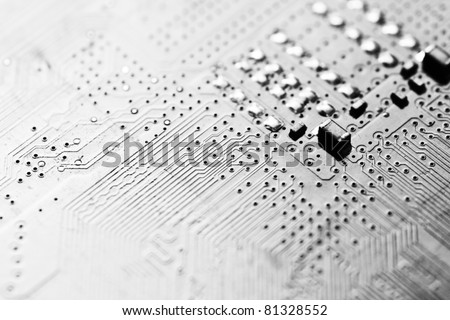 electronic circuit board as an abstract background pattern - stock photo
