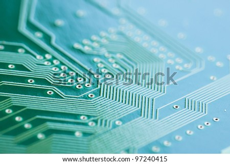 Electronic circuit board. See my portfolio for more - stock photo