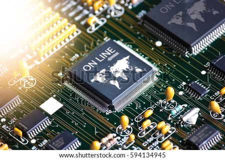 Electronic Circuit Board Setup Ic Online Stock Photo 594134945 ...