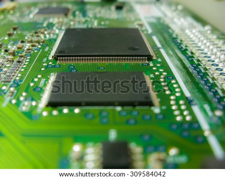 Electronic circuit board with radio components
