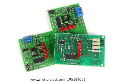 Electronic circuit boards - stock photo
