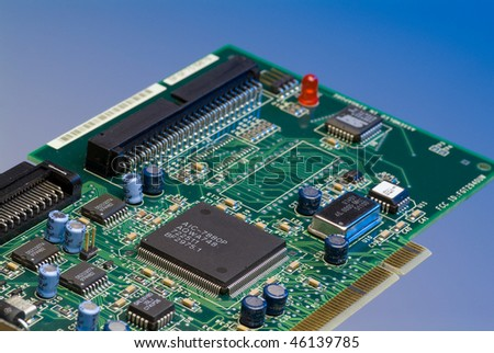 Electronic circut board - stock photo