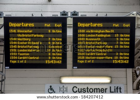 Departure Board Stock Images Royalty Free Images