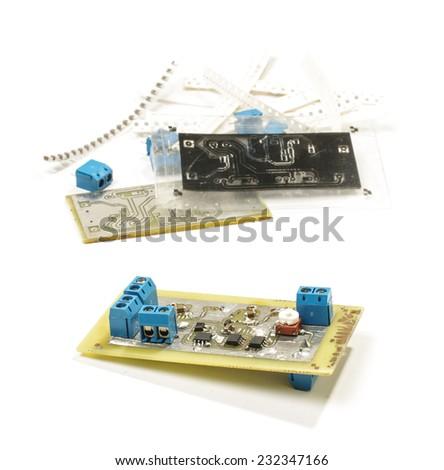 Electronic device prototyping - stock photo