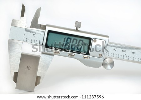 Electronic digital caliper - stock photo