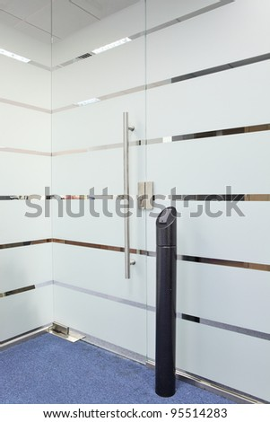 Electronic door lock system - stock photo