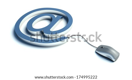 Electronic email communication concept