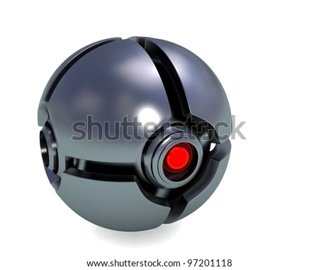 electronic eye - stock photo