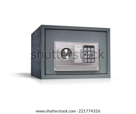 Electronic home safe - stock photo