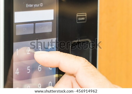 electronic key and finger access control system to lock and unlock doors