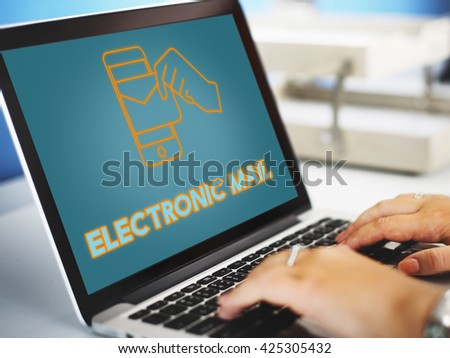 Electronic Mail Technology Email Graphic Concept - stock photo