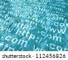 Electronic ocean - stock photo