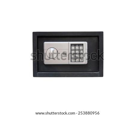 Electronic safe on white backgrounds - stock photo