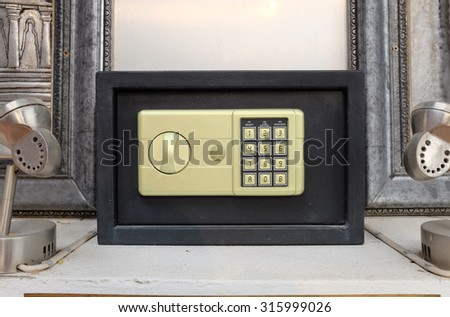 Electronic safe with code lock