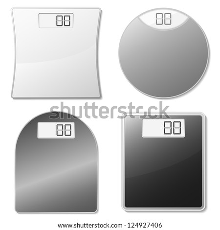 Electronic scales - stock photo